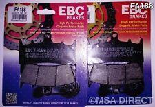 Kawasaki VN1500 Mean Streak (2002 to 2004) EBC Kevlar FRONT Brake Pads (FA188)
