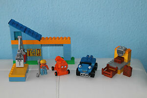 LEGO-DUPLO-3299-Sprinti-und-Mixi-in-Bobs-Werkstatt-Bob-der-Baumeister