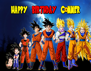 Image Is Loading DRAGON BALL Z Edible Birthday Cake Topper