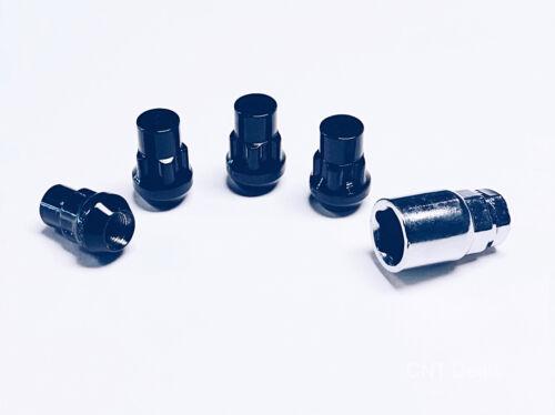 Set of 4 Black 12x1.5 Acorn Lug Nut Wheel Lock Honda Prelude S2000 Element CRZ