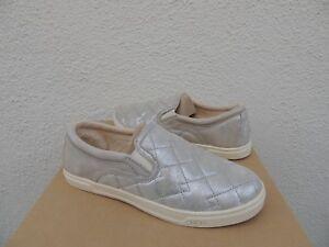 Ugg Silver Fierce Deco Quilt Stardust Leather Sneaker
