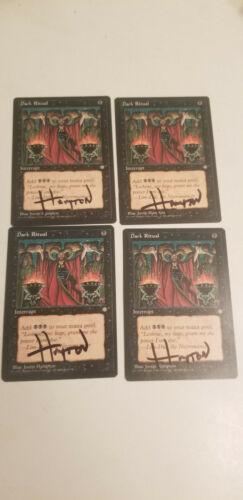Dark Ritual X1 Ice Age Ed Signed by Justin Hampton  MTG