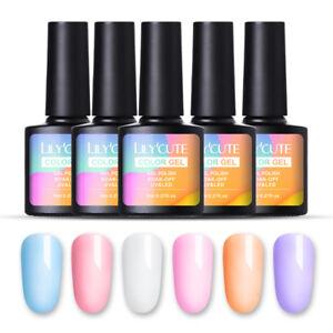lilycute crystal soak off uv gel polish translucent nail