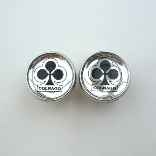 Vintage Style Chrome Colnago Racing Bar Plugs Repro Caps