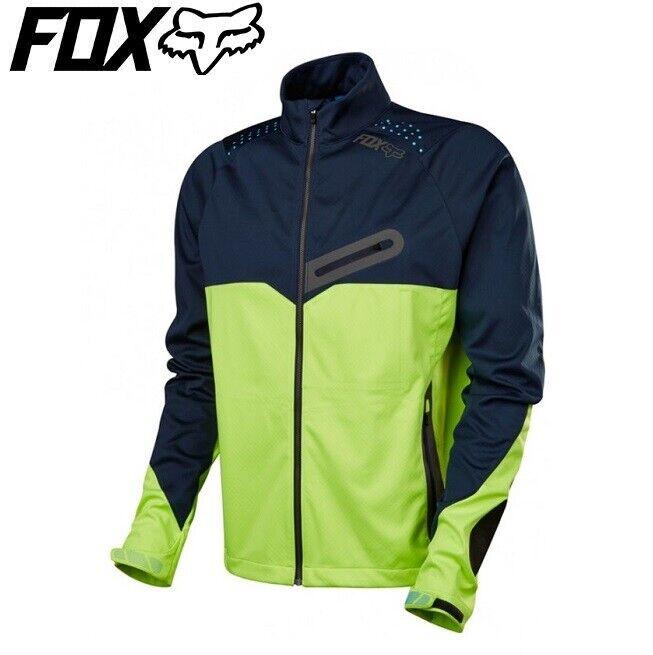 FOX  Bionic Softshell Chaqueta Resistente Al Agua-Azul Marino Amarillo-Tamaño Grande  venta
