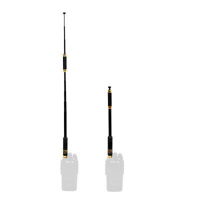 VHF UHF long range telescopic antenna SMA-F Walkie Talkie BAOFENG UV-5R UV-B6