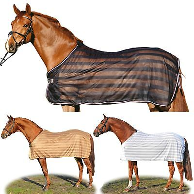 HKM Anti Fly Fixed Full Neck Horse Pony Outdoor Protection Blanket Sheet Rug