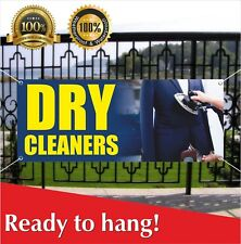 Dry Cleaners Banner Vinyl Mesh Banner Sign Flag Dry Cleaning Laundry Cleaned