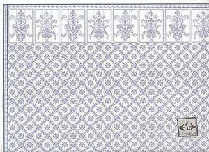 Brodnax prints leslie blue 1kt603 kitchen tile wallpaper for Kitchen print wallpaper