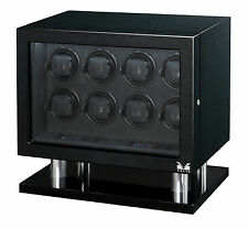 New VOLTA Carbon Fiber finish - Automatic 8 Watch Winder Box