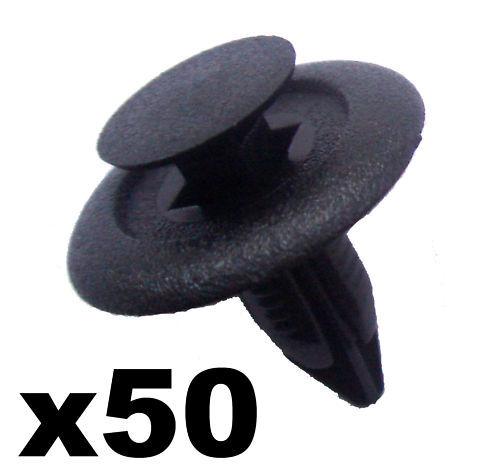 50x 6mm Aménagement Intérieur Panneau Plastique Rivets Toyota Mazda