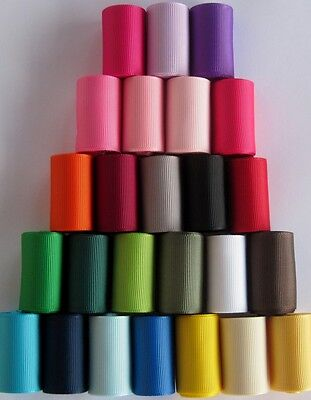 "1.5"" Grosgrain Ribbon solid colors~U Pick color~ 5 Yds"