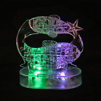 3D Crystal Puzzle with Multi Color Flashing Light 45pcs Zodiac Pisces