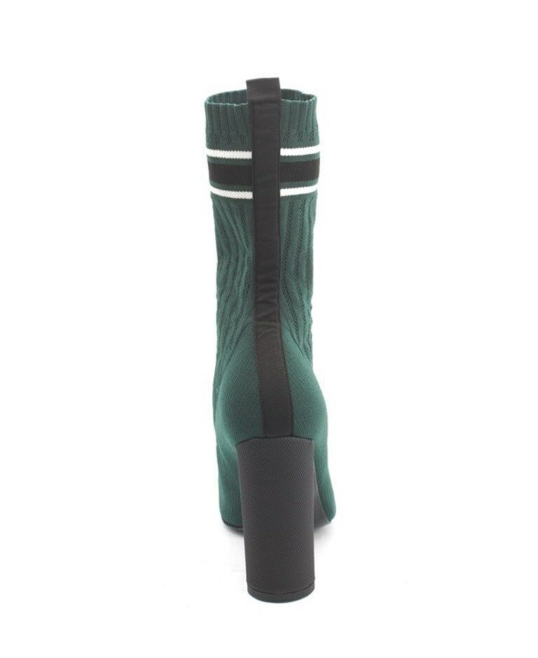Etre 108 vert noir STRETCH-Knit STRETCH-Knit STRETCH-Knit Sock Hauteur Mi-Mollet Talon Bottes 37 7 US 4cd6c1