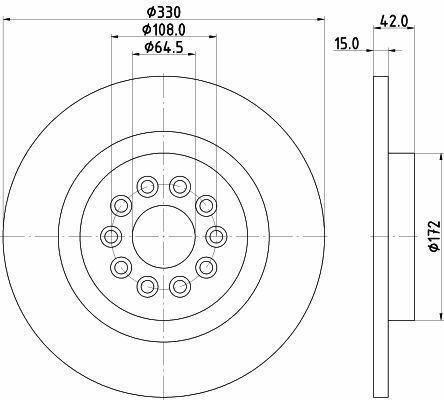 MINTEX MDC2206 BRAKE DISC Rear