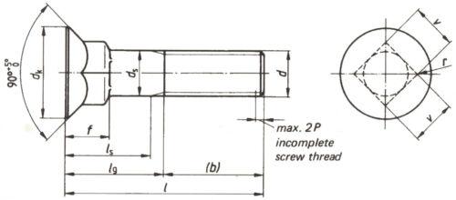 50 Stück-Packung Scharschrauben DIN 608 Länge 30-100 M12