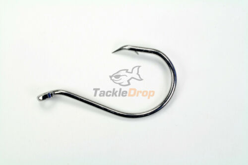 100 #1 Offset Octopus Circle Fishing Hooks 2X Strong Chemically Sharpened USA!