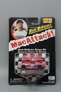 MAISTO-MACATTACK-MARK-MCGWIRE-HOMERUN-RECORD-NASCAR-8-BOBBY-HILLIN-1-64