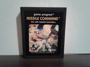 Missile Command (Atari 2600, 1981) CART ONLY