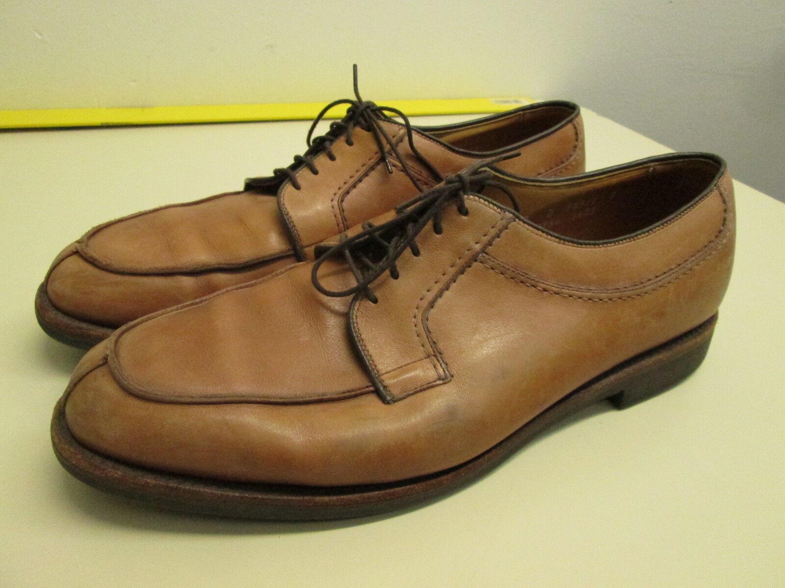 Men's Allen Edmonds Stockbridge brown Leather Oxford Shoes 12 D Made in USA