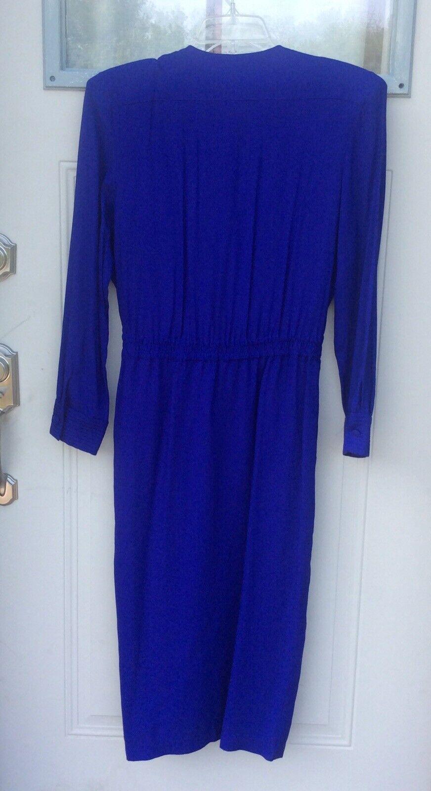Marie St. Claire Vintage Maxie Dress Royal Blue C… - image 2