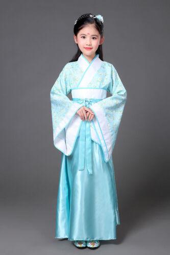 Kids Girl Ancient Hanfu tang Chinese Costume Dynasty Princess Photographic Dress
