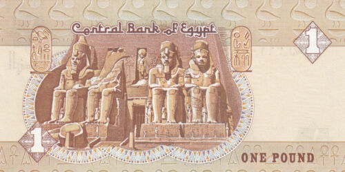 EGYPT 1 EGP 2001 2002 2003 P-50 SIG// OYOUN #20 LOT OF 3 UNC all DIFFERNT DATES