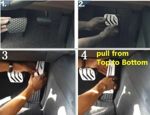 No drill Fuel Brake Foot Rest AT pedals Plate Cover BMW X5 E70 X6 E71 LHD F15