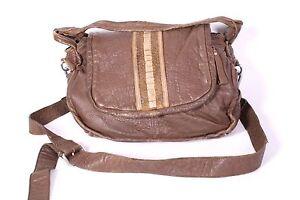10B-Liebeskind-Tasche-Damen-Leder-braun-gross-Crossbody-Bag-Vintage-Shabby-Look