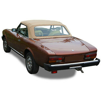 DIY Fiat 124 Spider CS2 1979-1982 convertible Soft top Kit Black Pinpoint