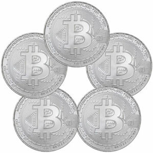 2020 Republic of Chad BitCoin Crypto Currency 1 oz Silver Antiqued Coin GEM BU