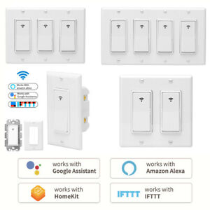 Wifi Smart Switch 1 2 3 4 Gang Wall Light Switch For Amazon Alexa Google Ifttt Ebay