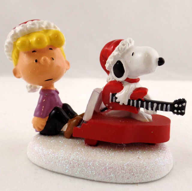 Dept 56 - Schroeder And Snoopy's Christmas Jam Peanuts Village Figurine