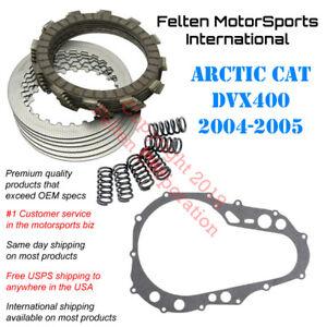 Details about Arctic Cat DVX400 Clutch Kit Set Discs Disks Springs Gasket  DVX 400 Artic 04-05