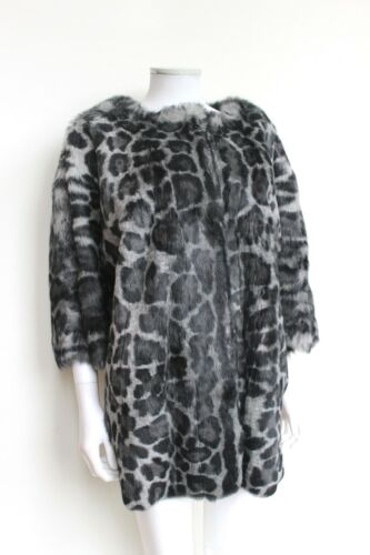 Grigio Fur Utzon 10 F38 Print Real £ Harrods Uk Coat Leopard 1800 Designer wxYqvv