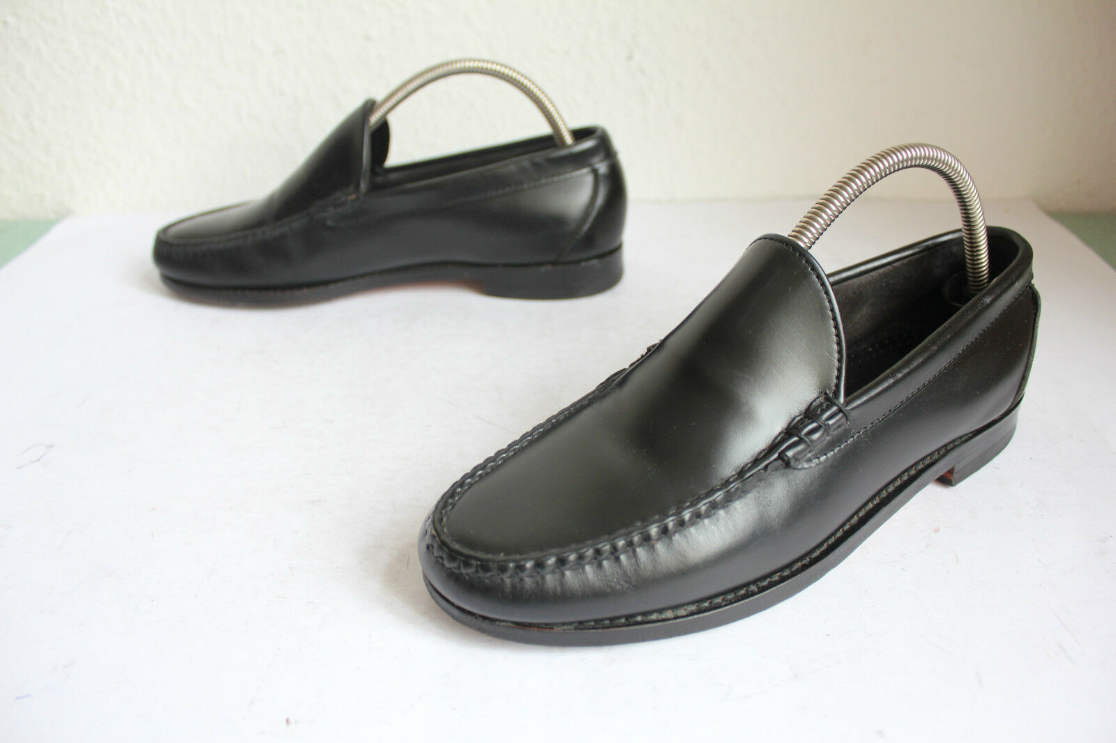 Allen Edmonds Luxus Slipper Schuhe Voll Voll Voll Echtleder Schwarz 40-40,5 made in USA fd82a0