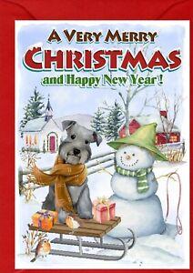 Miniature-Schnauzer-Dog-A6-4-034-x-6-034-Christmas-Card-Blank-inside-by-Starprint