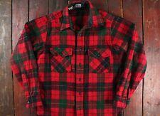 VINTAGE WOOLRICH Rosso Plaid Check Camicia Lana LUMBERJACK Rockabilly USA piccolo