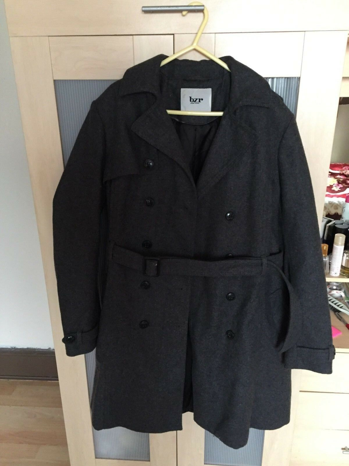 Ladies BZR Bruuns Bazaar winter long coat 80% wool RRP