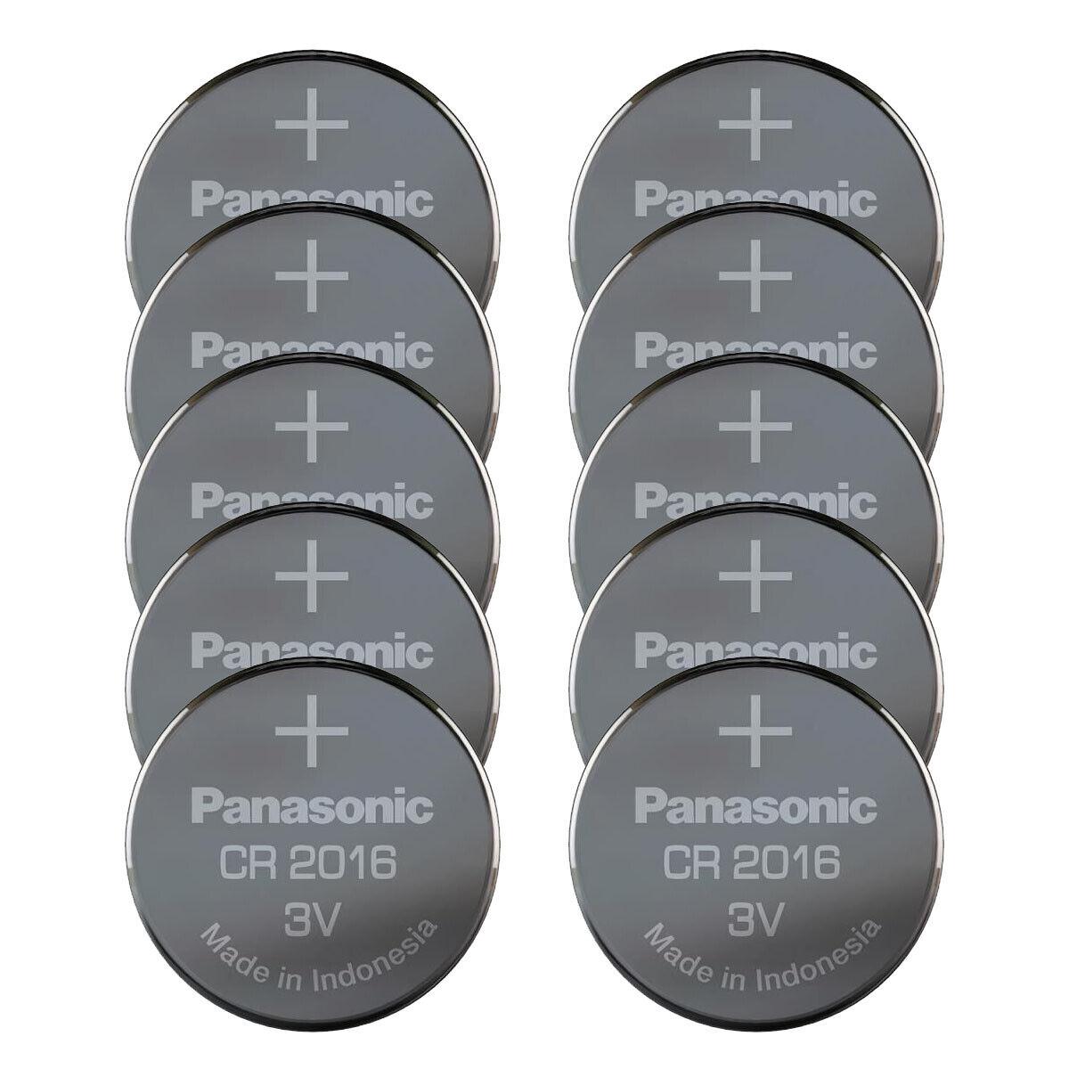 10 x panasonic cr2016 lot button battery 3v replace CR BR DL ECR kcr 2016
