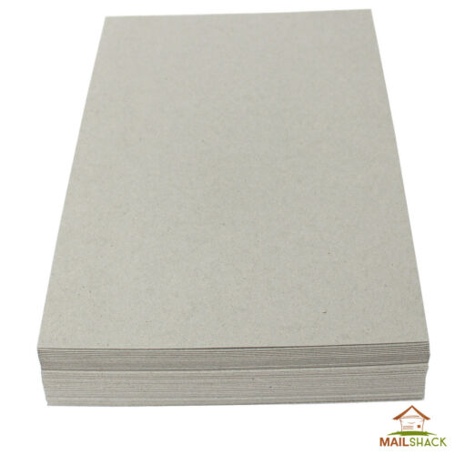 40 Sheets A4 PREMIUM 3000 MICRON 3mm GREYBOARD THICK STRONG Backing Card Craft