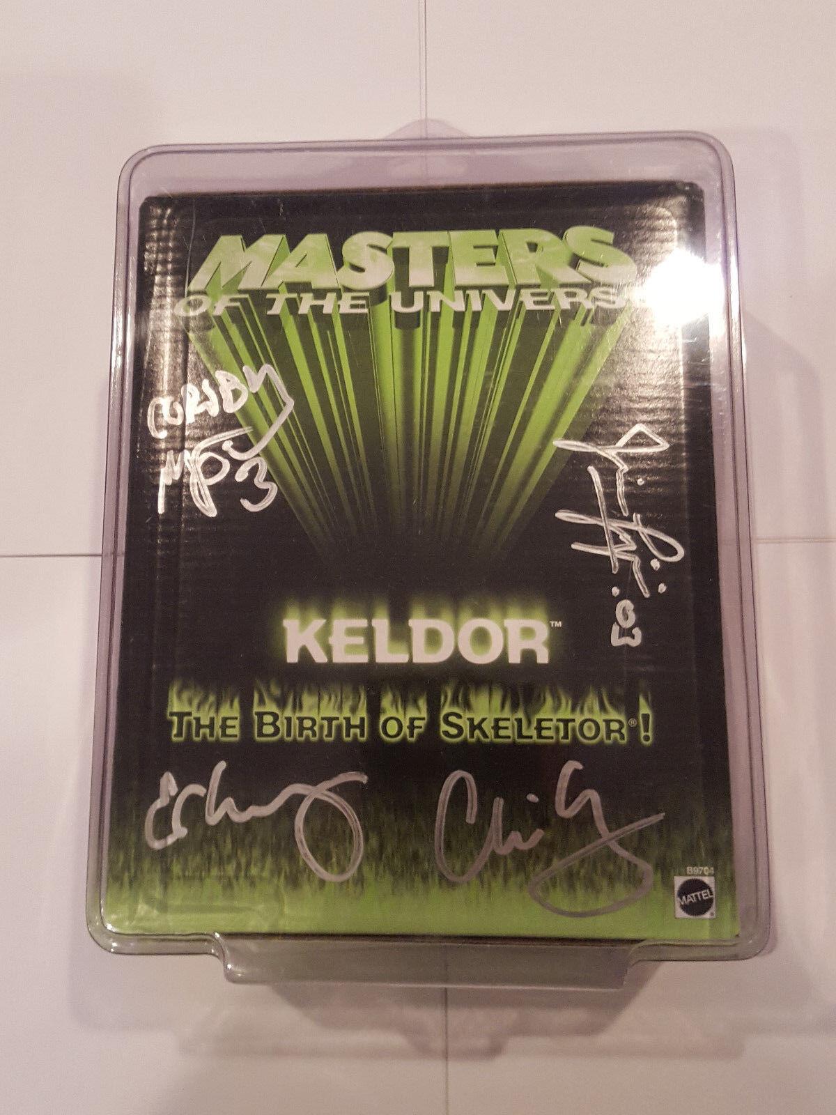 200x Mattel MOTU He-Man Exclusive KELDOR SDCC Signed 4 Horsemen w  case MOC