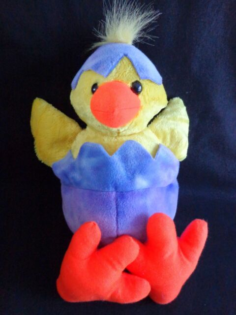 "HATCHING DUCKLING Purple Egg 14"" Plush Chick Kelly Toy Stuffed Animal Easter"