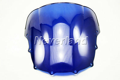 Motorcycle Windscreen Windshield Blue for Kawasaki ZZR600 ZZR 600 1993-2007 06