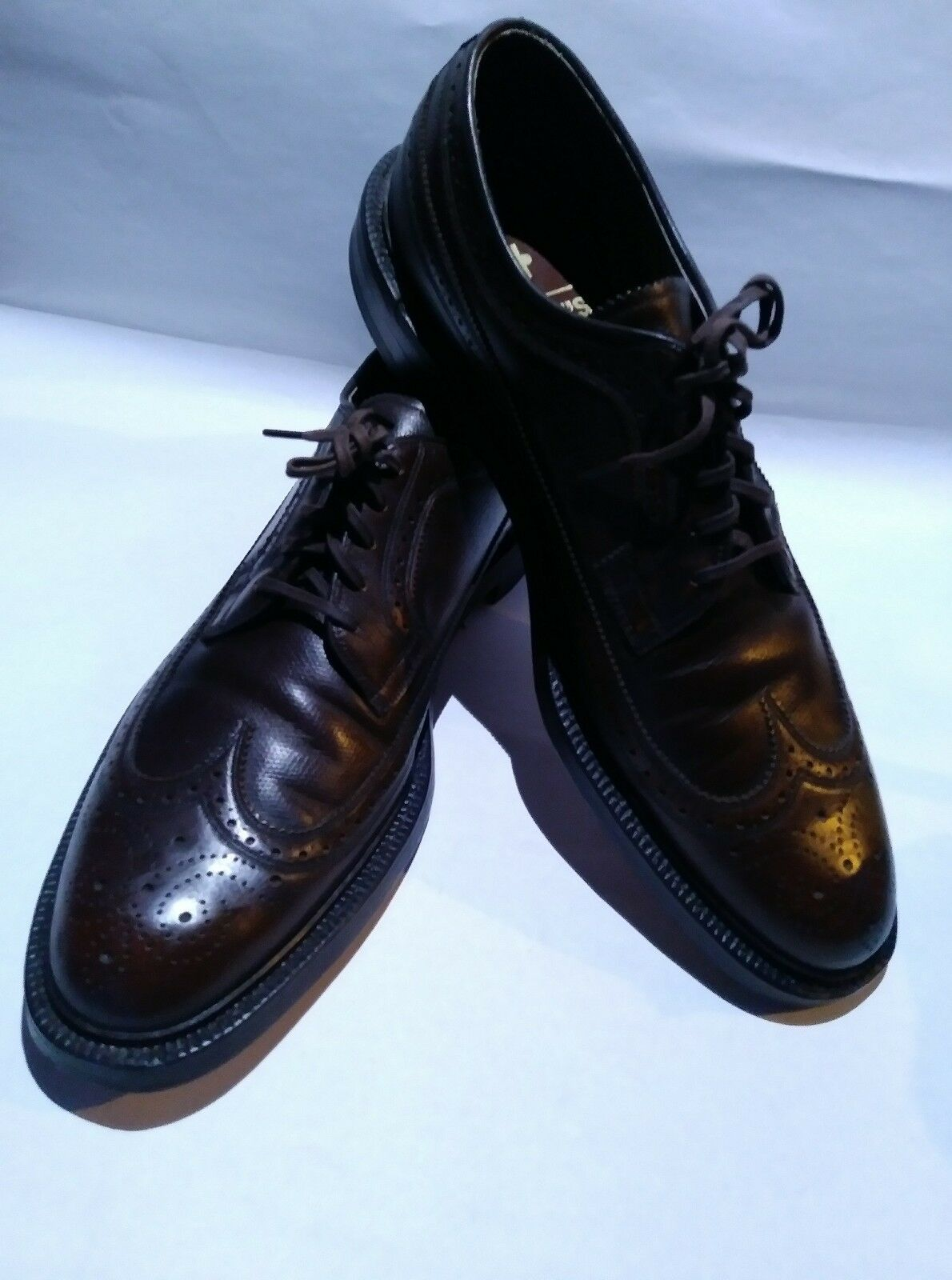 Johansen And Murphy Aristocraft Brown Size 12 Wingtip Dress shoes made in USA