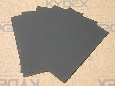 5 Pack 1.5mm KYDEX T SHEET 300 X 300  (P-1 HAIRCELL BLACK )
