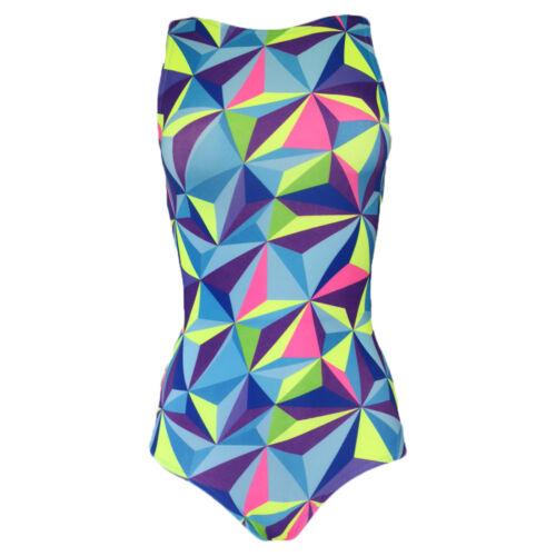 Starlite Gymnastics//Dance Brittle Leotard-Multi Coloured Shard Print