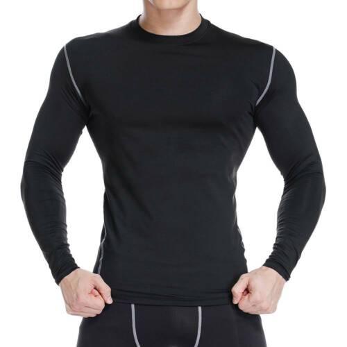 UK NEW Mens Boys Compression Gym Base Layer Thermal Skins Shirt Sports Leggings