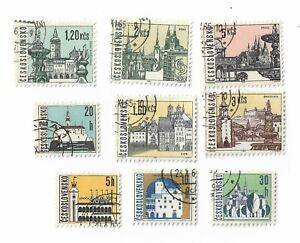 Czechoslovakia-postage-stamps-x-9-1965-Czech-Towns