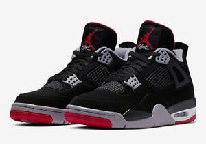 pretty nice 0597d 4897b Image is loading Nike-Air-Jordan-4-Retro-GS-SZ-4Y-